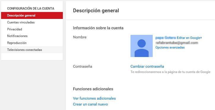 7-descripcion general cuenta youtube